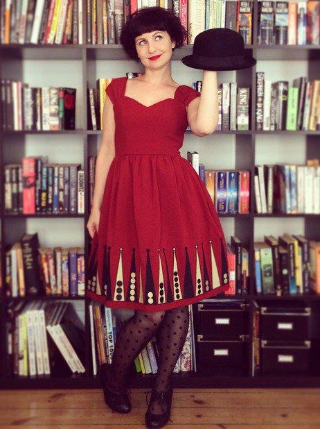 Katharine P shows off her ModCloth style